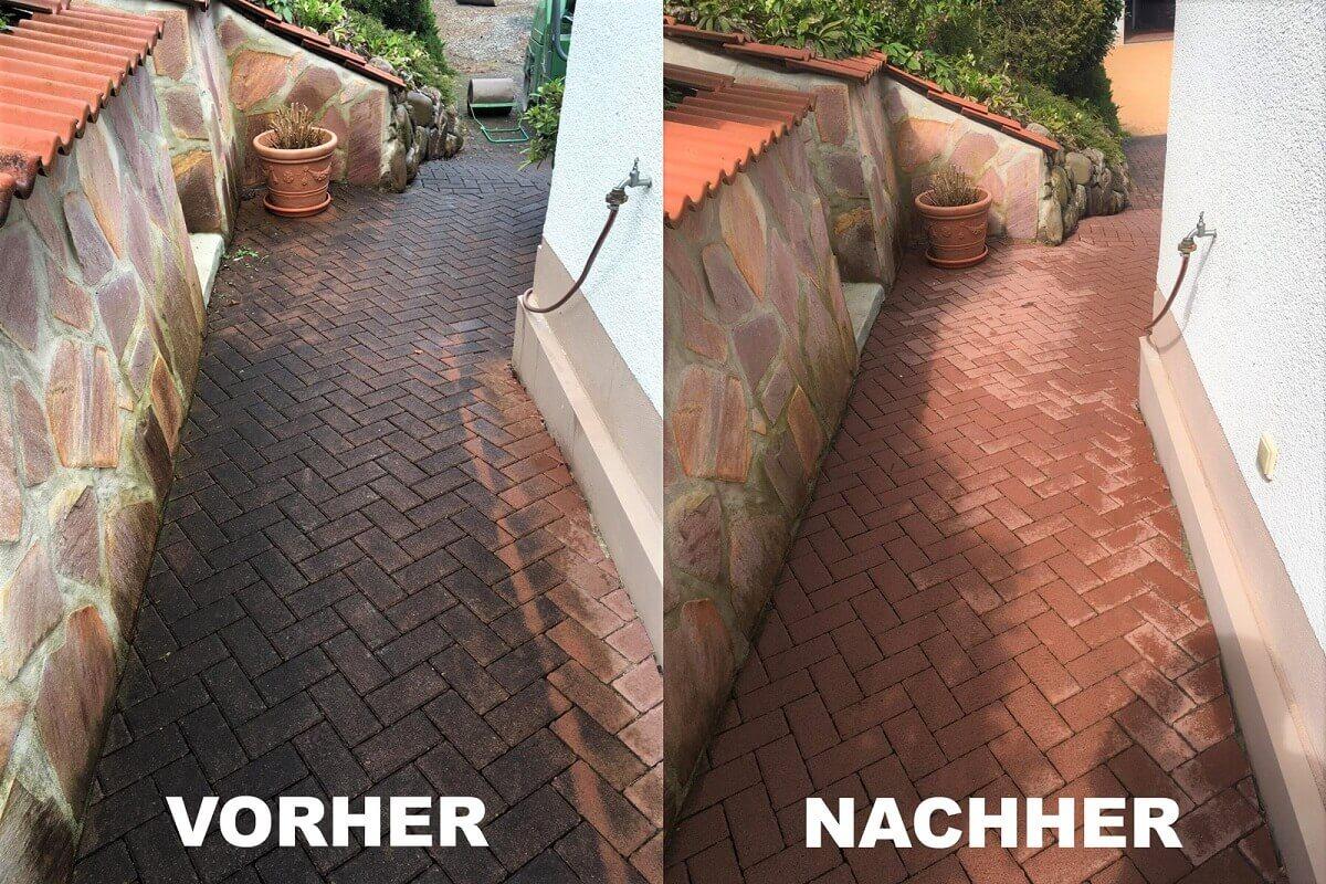 Der Vorher-Nachher Vergleich.